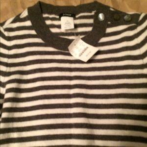 J. CREW Striped Wool Cashmere Sweater XS